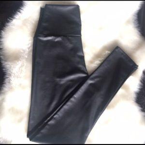 Pants - Black faux leather leggings