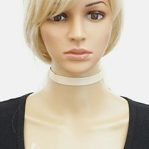 Classic Leatheretted Choker Necklace