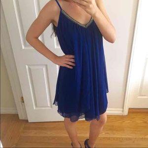 Dresses & Skirts - ROYAL BLUE CHIFFON DRESS