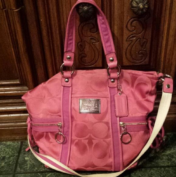 Coach bags pink poppy purse poshmark pink poppy coach purse mightylinksfo