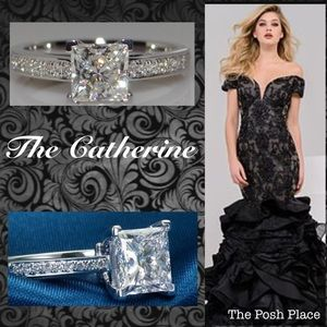 Jewelry - 💍 The Catherine 💍 Princess Cut White Sapphire