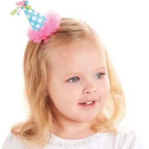 Mud Pie Birthday Hat Bow Hair Clip NWOT M 587ebdcf4e8d1737da00758b