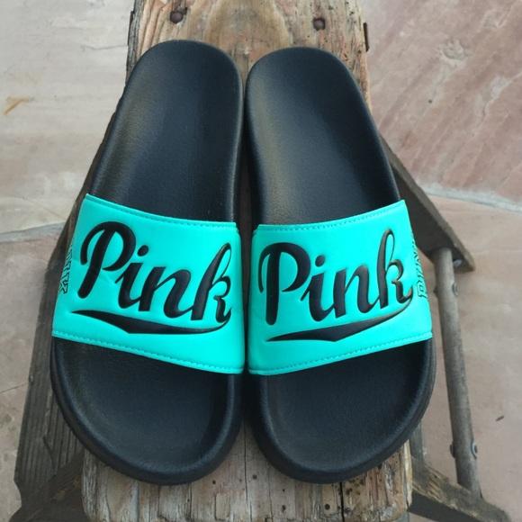 efa261c888d PINK Victoria Secret Slides (L 9-10). M 587ebb034127d08fd7005f37