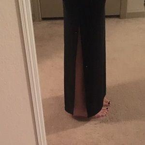 Dresses & Skirts - Black slit skirt