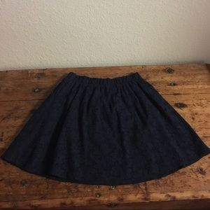 Dresses & Skirts - Navy lace floral skirt