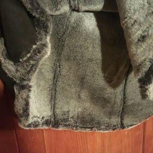 Hanna Andersson Jackets & Coats - Faux suede faux fur caplet