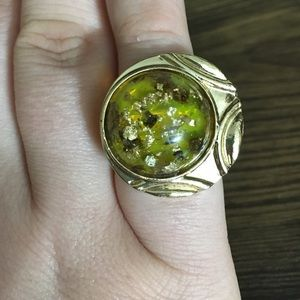 10 for $20 SALE - Yellow Cats Eye Adjustable Ring