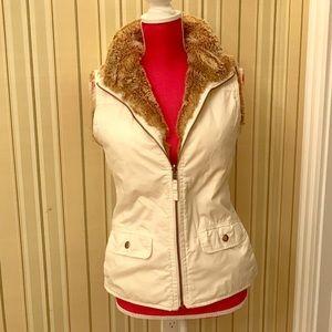 Faux fur lined vest