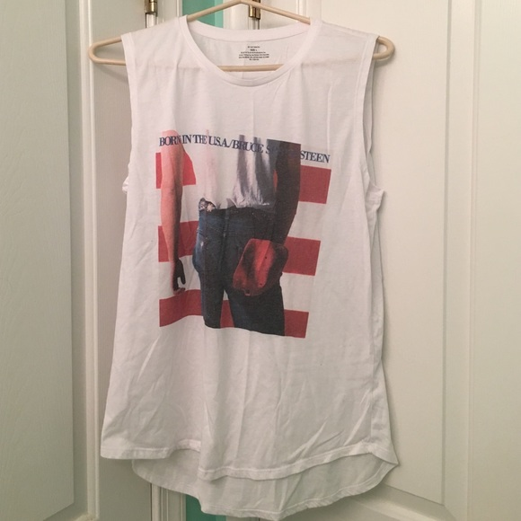 bruce springsteen sleeveless t shirt