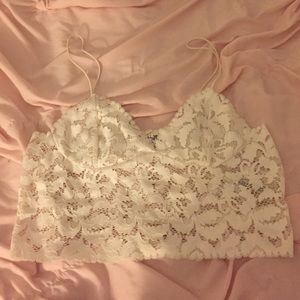 Free People Lace Bralett