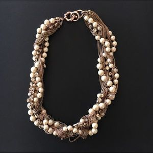 J. Crew Jewelry - J Crew Rose Gold Statement Necklace