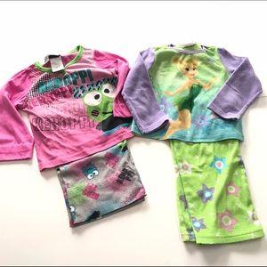 Disney Other - Girls Pajamas Bundle 4T