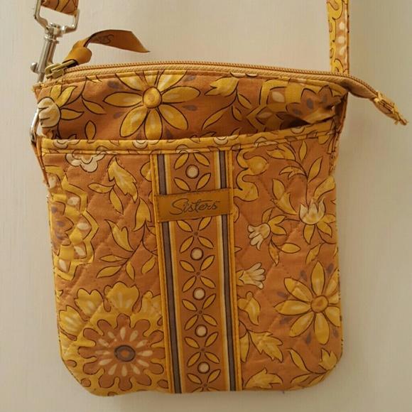 0836b94b7d Longaberger Handbags - Longaberger Sisters Crossbody bag in Golden Fields