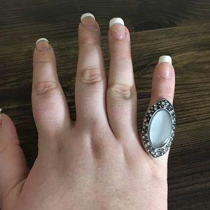 5 for $25 SALE !!  Gray Stone Rhinestone Ring