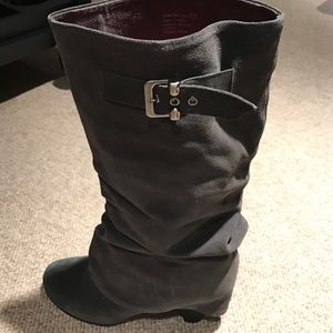 Grey Wedge Boot