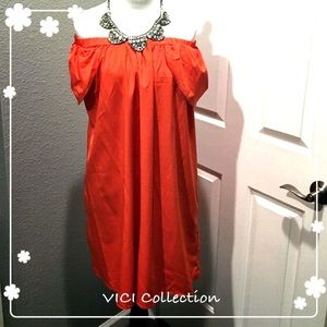 VICI collection  Dresses & Skirts - Coral Red off the shoulder dress