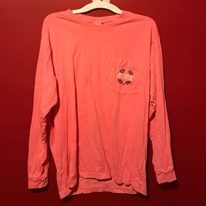 VS Pink VNeck pocket Long Sleeve Large