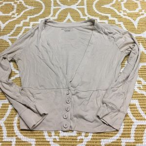 Large Crop Cardigan Like Top with Buttons