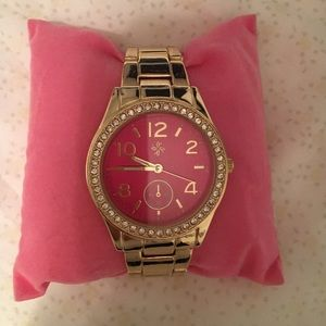 Pink dial Goldtone watch