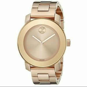 NWT Movado Rose-Gold Stainless steel watch