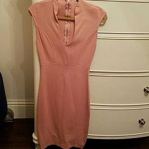 Blush Fitted Midi Dress
