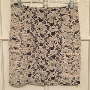 High Waisted Lace Mini Skirt