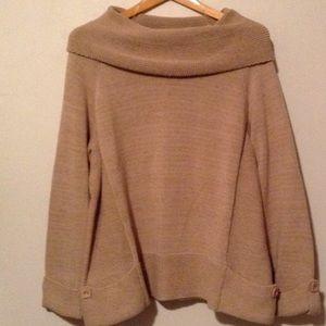 Nicole Lee Sweaters - Nicole Lee Tan Cotton Sweater