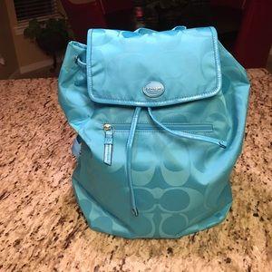 Signature nylon backpack handbag purse by Coach