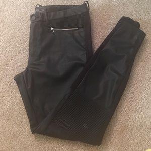 Moto faux leather pants