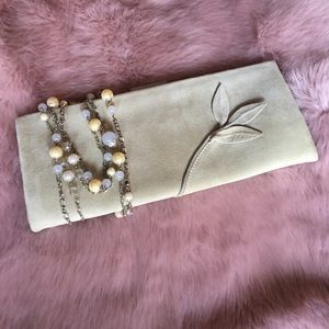 Calvin Klein Collection Handbags - Calvin Klein Collection Suede Clutch