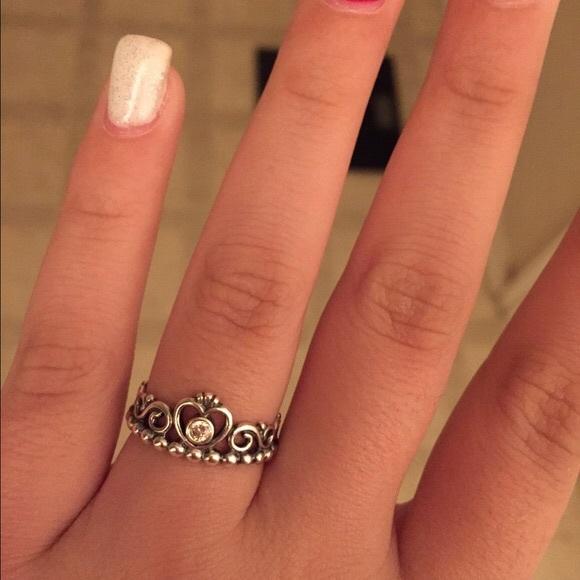 56 off pandora jewelry pandora princess tiara ring from. Black Bedroom Furniture Sets. Home Design Ideas