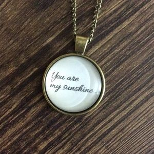 5/$25 SALE !! NEW You Are My Sunshine Necklace