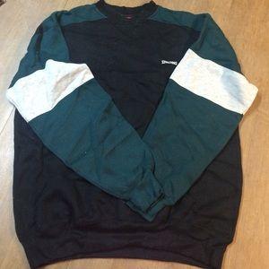 Men's Green, Grey, and Black Spalding sweatshirt
