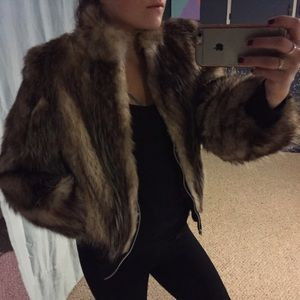 Fabulous Furs Jackets & Blazers - REAL fur zip up coat