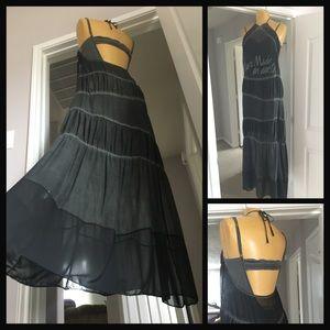 Sugar Daddy x Free People silk maxi slip dress set