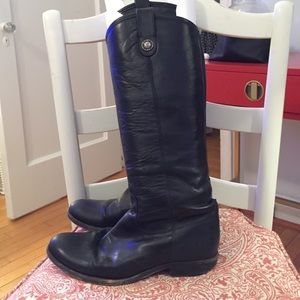 Frye Melissa Button Boots in Black