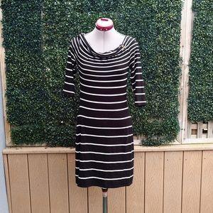 White House Black Market Dresses & Skirts - White House Black Market Off Stripe Jersey Dress