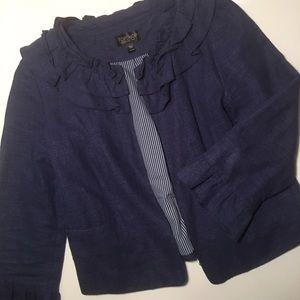 Blue linen TopShop Blazer