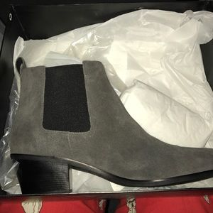 Via Spiga Charcoal Grey Chelsea Boots