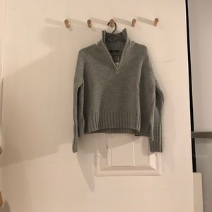 Brand new Zara zipped polo neck knit sweater