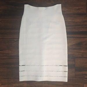 Herve Leger Dresses & Skirts - Herve Leger Eyelet Detail Bandage Skirt