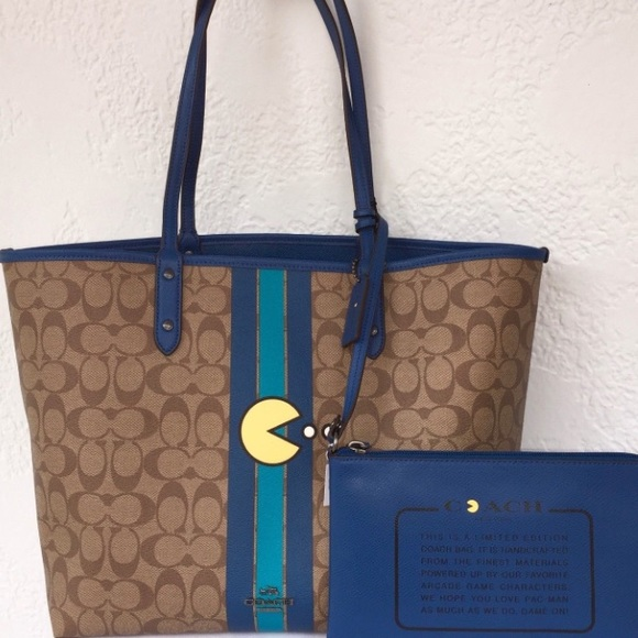 NEW COACH PACMAN TOTE 93d06a42b4248