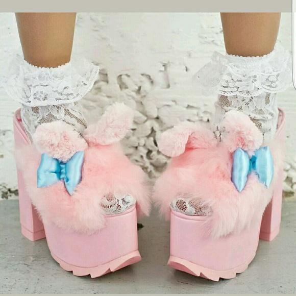 cff61672e24 YRU my melody Sanrio bunny platforms dolls kill NWT