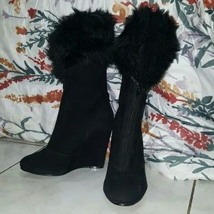 Traffic Shoes - Fur boots NEVER WORN