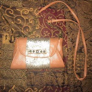 Jessica Simpson tan cross-body purse