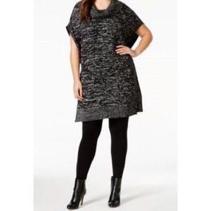 Melissa McCarthy Sweaters - Melissa McCarthy Tunic Poncho w/cowl neck B72