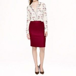 J.Crew Burgundy Wool Skirt