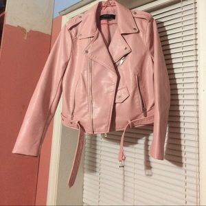 Zara biker/faux leather jacket