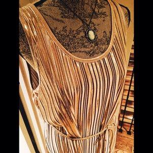 """H&M Dresses & Skirts - Gold Leaf Drop-Waist """"Flapper"""" Sleeveless Dress"""