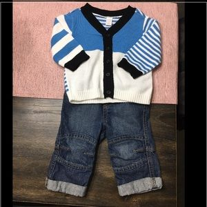 Jean and cardigan set